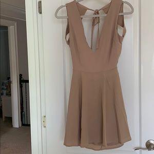 Mauve open back dress